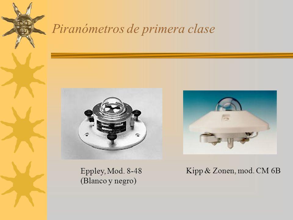 Piranómetros de primera clase Eppley, Mod. 8-48 (Blanco y negro) Kipp & Zonen, mod. CM 6B