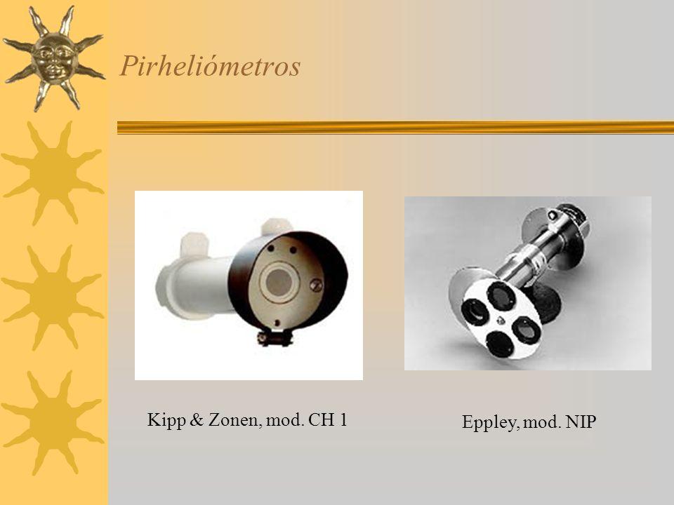 Pirheliómetros Kipp & Zonen, mod. CH 1 Eppley, mod. NIP