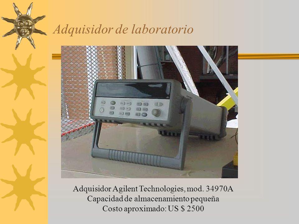 Adquisidor de laboratorio Adquisidor Agilent Technologies, mod. 34970A Capacidad de almacenamiento pequeña Costo aproximado: US $ 2500