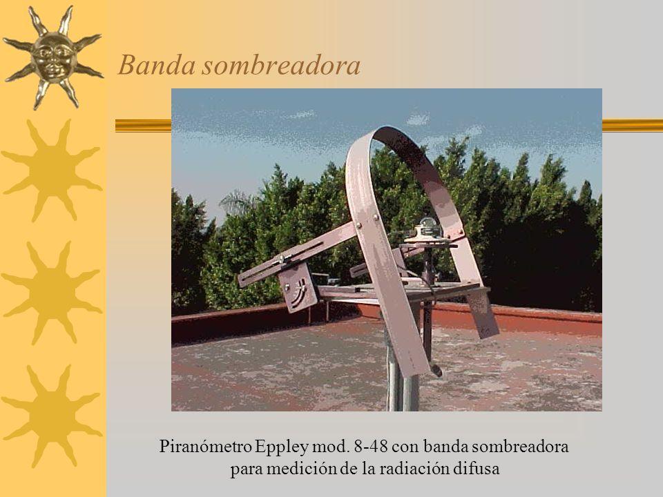 Banda sombreadora Piranómetro Eppley mod. 8-48 con banda sombreadora para medición de la radiación difusa