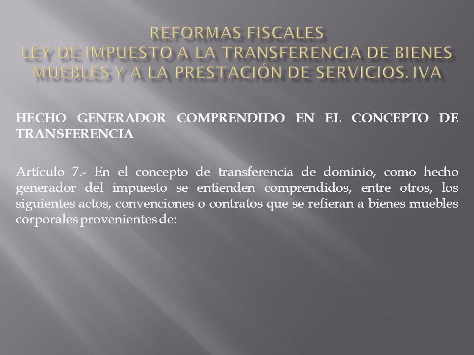 PRESTACIONES DE SERVICIOS Artículo 46.- Estarán exentos del impuesto los siguientes servicios: