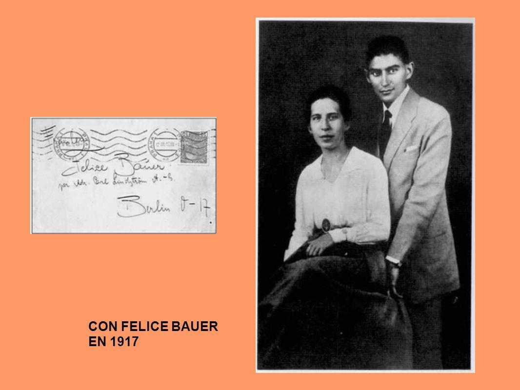 CON FELICE BAUER EN 1917