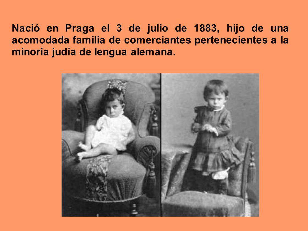 Nació en Praga el 3 de julio de 1883, hijo de una acomodada familia de comerciantes pertenecientes a la minoría judía de lengua alemana.