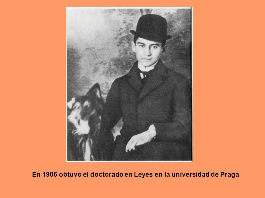 En 1906 obtuvo el doctorado en Leyes en la universidad de Praga
