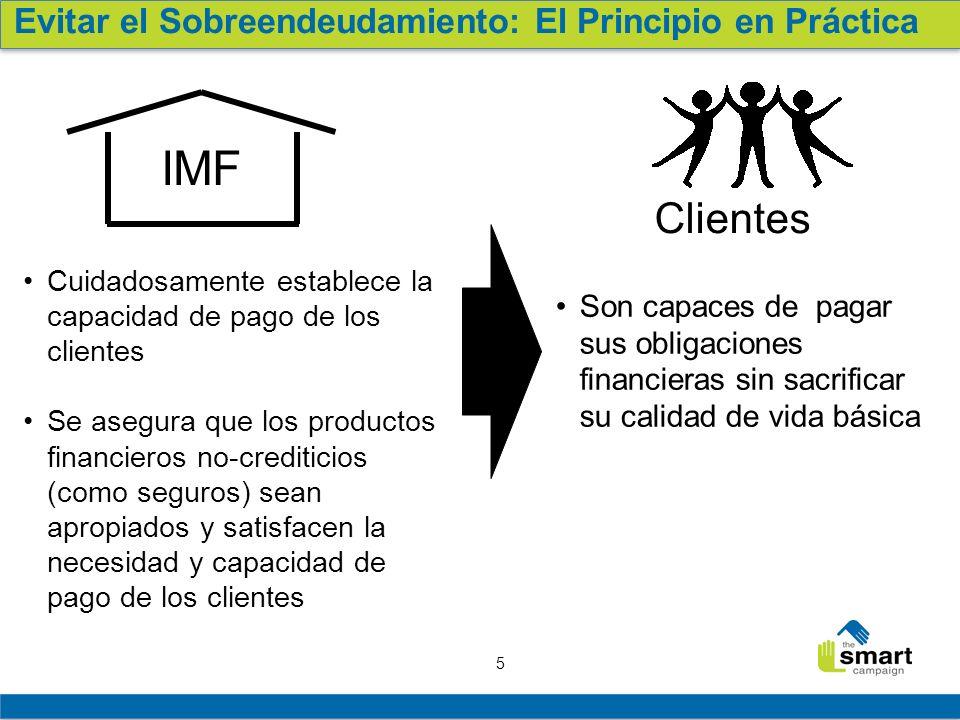 6 Principios de Protección al Cliente Principio #1 en práctica Causas y efectos del sobreendeudamiento Retroalimentación de los Participantes Lecciones y buenas prácticas del campo Conclusión y llamado a la acción Agenda