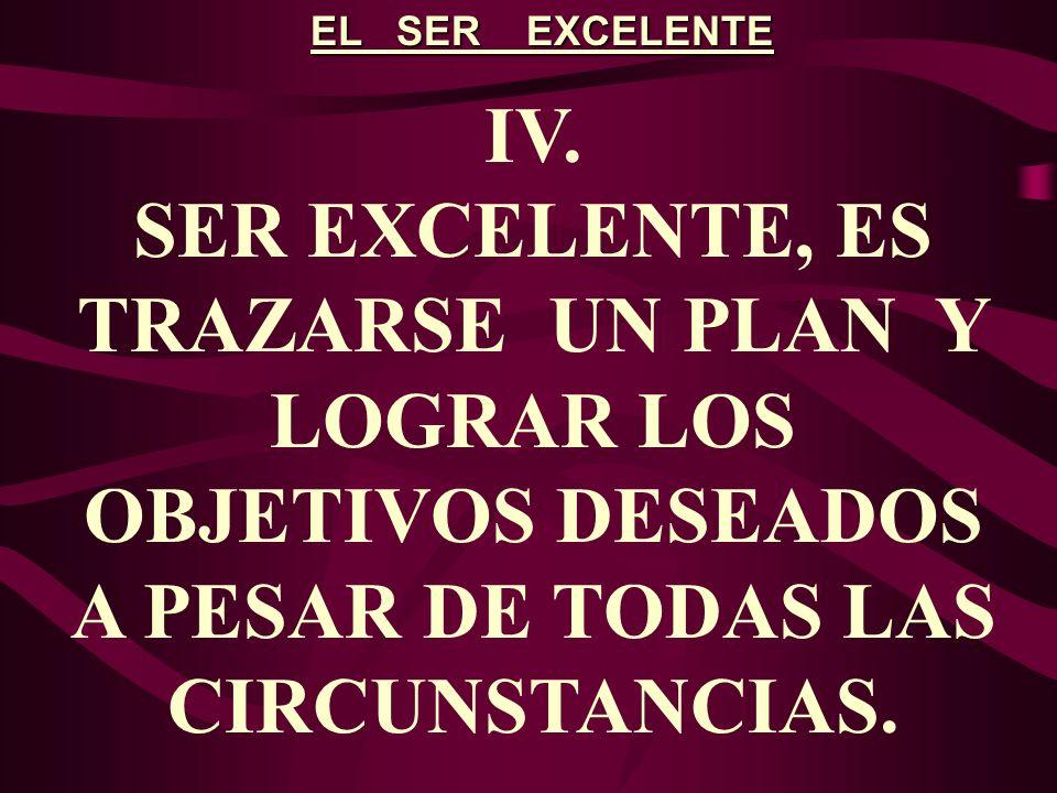 EL SER EXCELENTE V.