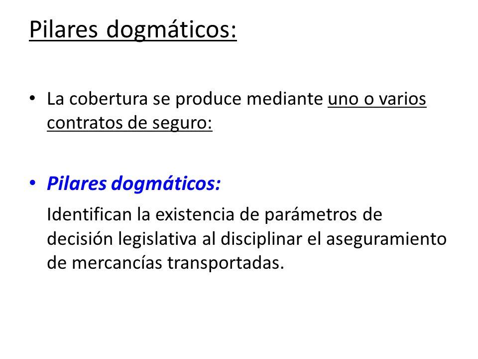 Pilares dogmáticos: La cobertura se produce mediante uno o varios contratos de seguro: Pilares dogmáticos: Identifican la existencia de parámetros de