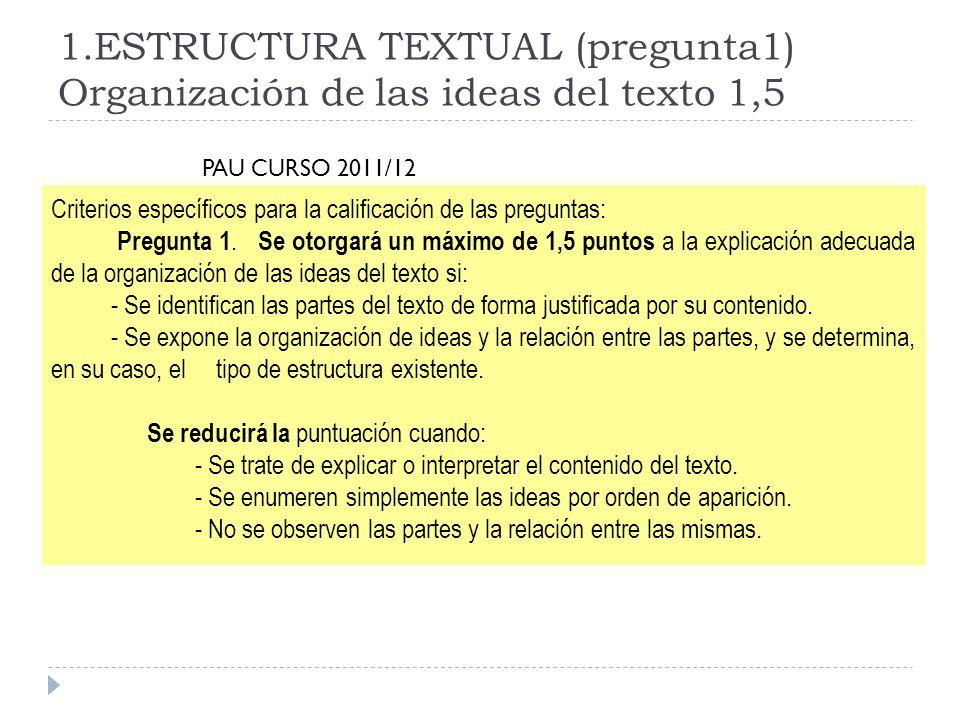3.Comentario crítico (3p) Vemos primero que nos dice la PAU Pregunta 3.