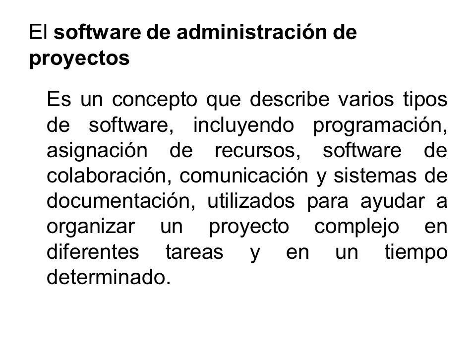 Técnicas del software de administración de proyectos Programación Cálculo de la Ruta Crítica Abastecimiento de la información