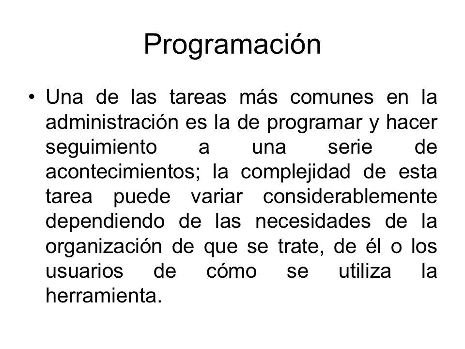 Programación Algunos desafíos comunes incluyen: Acontecimientos que dependen el uno del otro de diversas maneras.