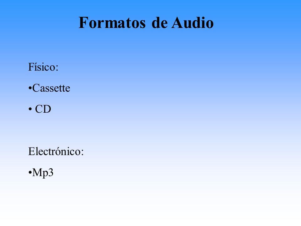 Formatos de almacenaje de vídeo electrónico: VOB- formato de para DVD Fla- Flash Movie Mov- Quicktime WMV- Windows Media Video AVI MPEG-4 ASF- Advanced Streaming Format DV- Digital Video (de los camcorders_
