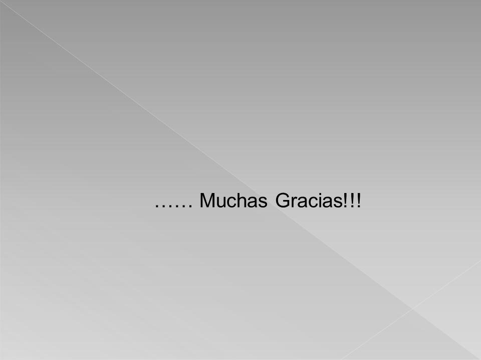…… Muchas Gracias!!!