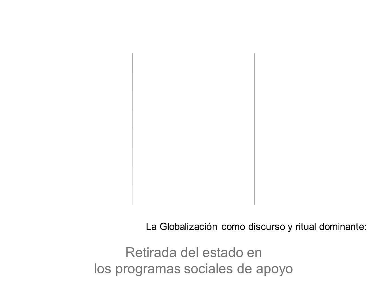 Retirada del estado en los programas sociales de apoyo La Globalización como discurso y ritual dominante: