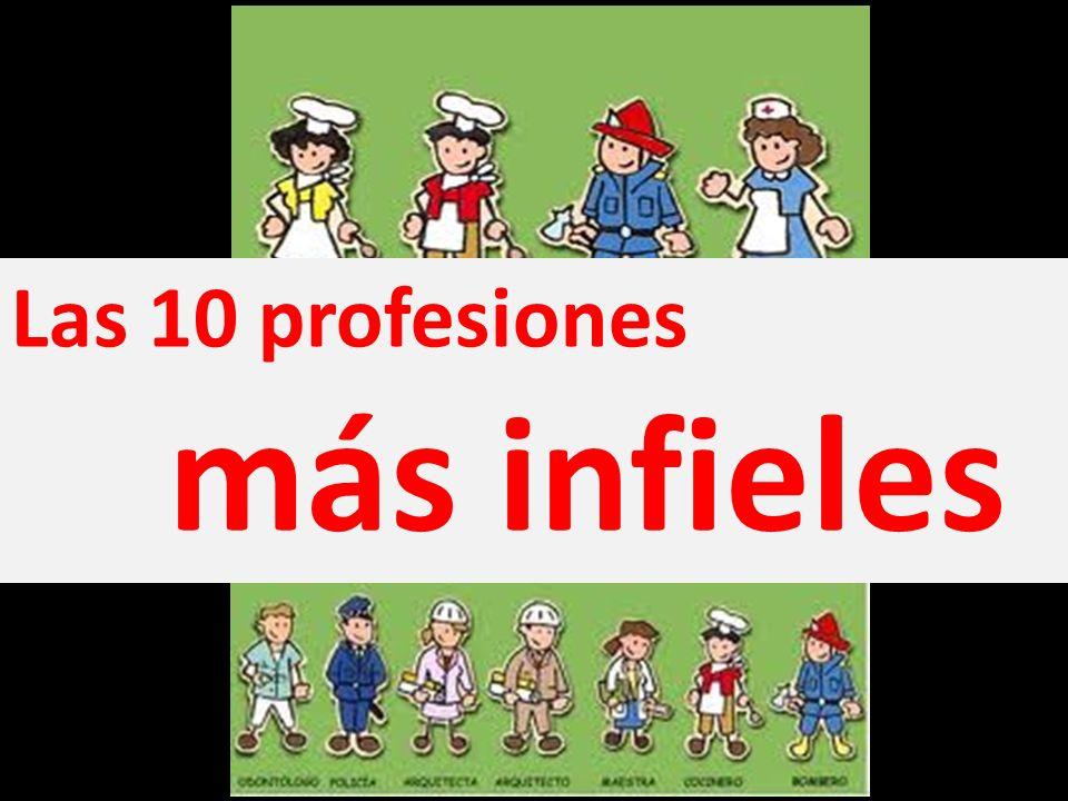 Las 10 profesiones más infieles