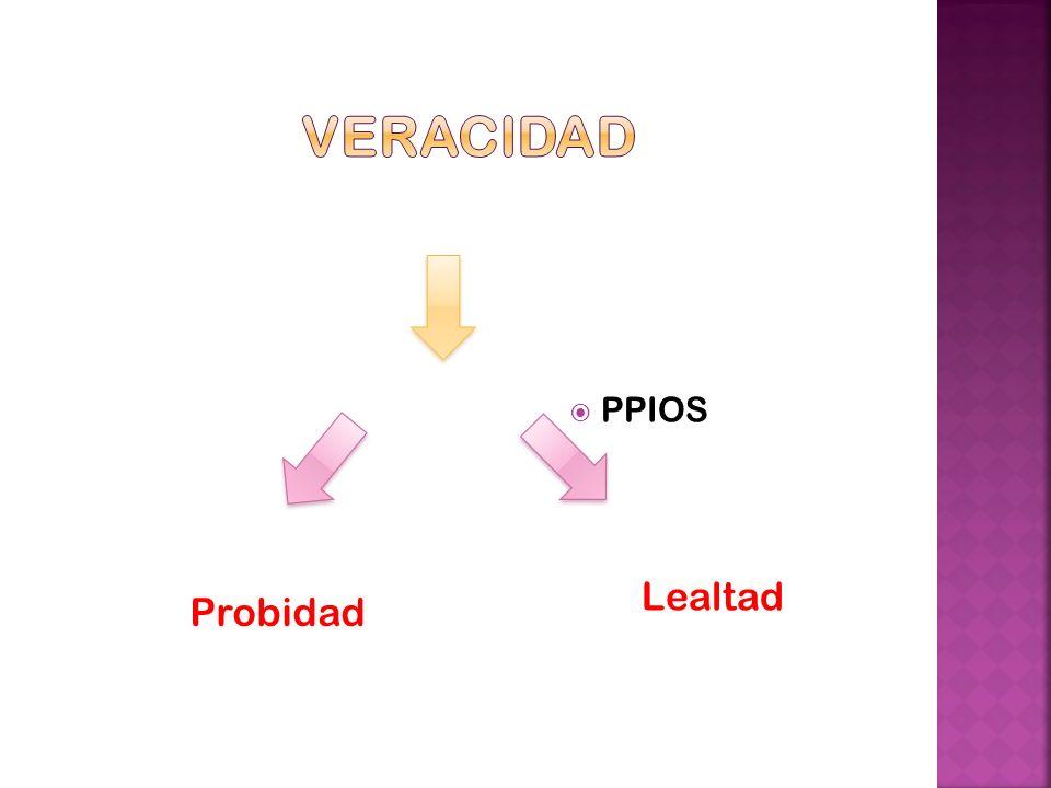 PPIOS Probidad Lealtad Hechos Veracidad