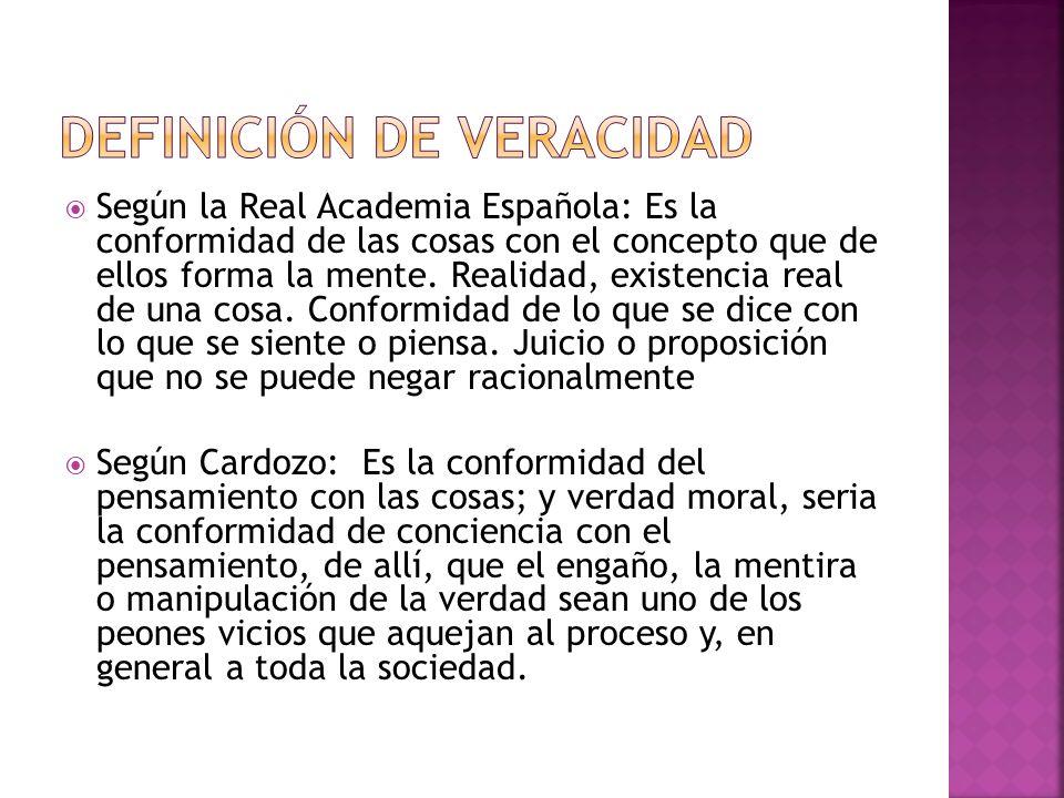 Según la Real Academia Española: Es la conformidad de las cosas con el concepto que de ellos forma la mente. Realidad, existencia real de una cosa. Co