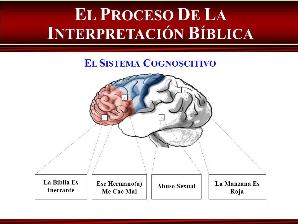 La Biblia Es Inerrante Ese Hermano(a) Me Cae Mal Abuso Sexual La Manzana Es Roja E L S ISTEMA C OGNOSCITIVO