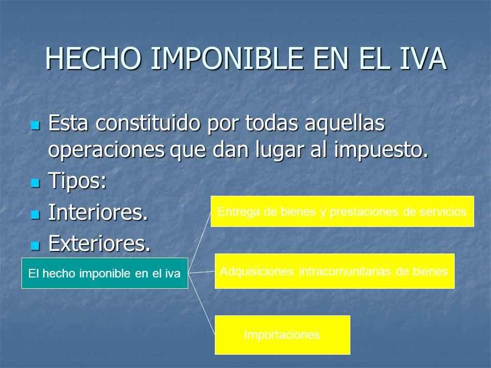 Entregas de bienes y prestaciones de servicio Están sujetas al iva las siguientes: Están sujetas al iva las siguientes: Dentro del territorio de aplicación del impuesto.