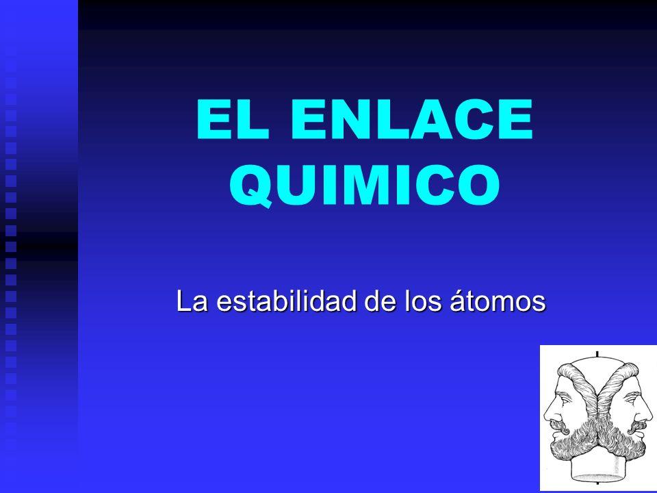 EL ENLACE QUIMICO La estabilidad de los átomos