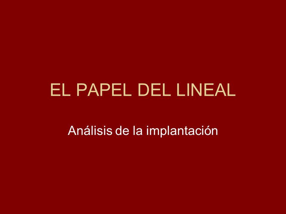 EL PAPEL DEL LINEAL Análisis de la implantación