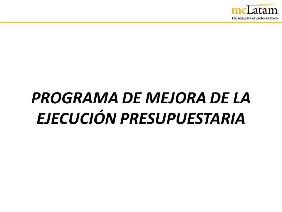 PROGRAMA DE MEJORA DE LA EJECUCIÓN PRESUPUESTARIA