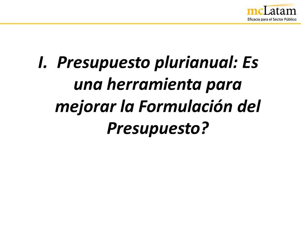 Definición de Presupuesto Plurianual El Presupuesto Plurianual es una herramienta de programación de mediano plazo de las acciones del Gobierno donde se visualiza: la formulación de sus objetivos de políticas.
