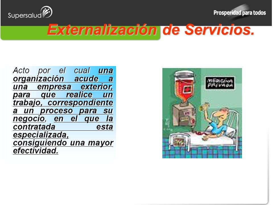 Externalización de Servicios.