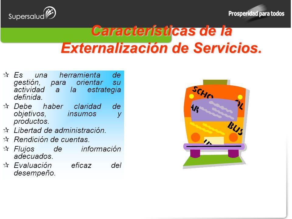 Características de la Externalización de Servicios.