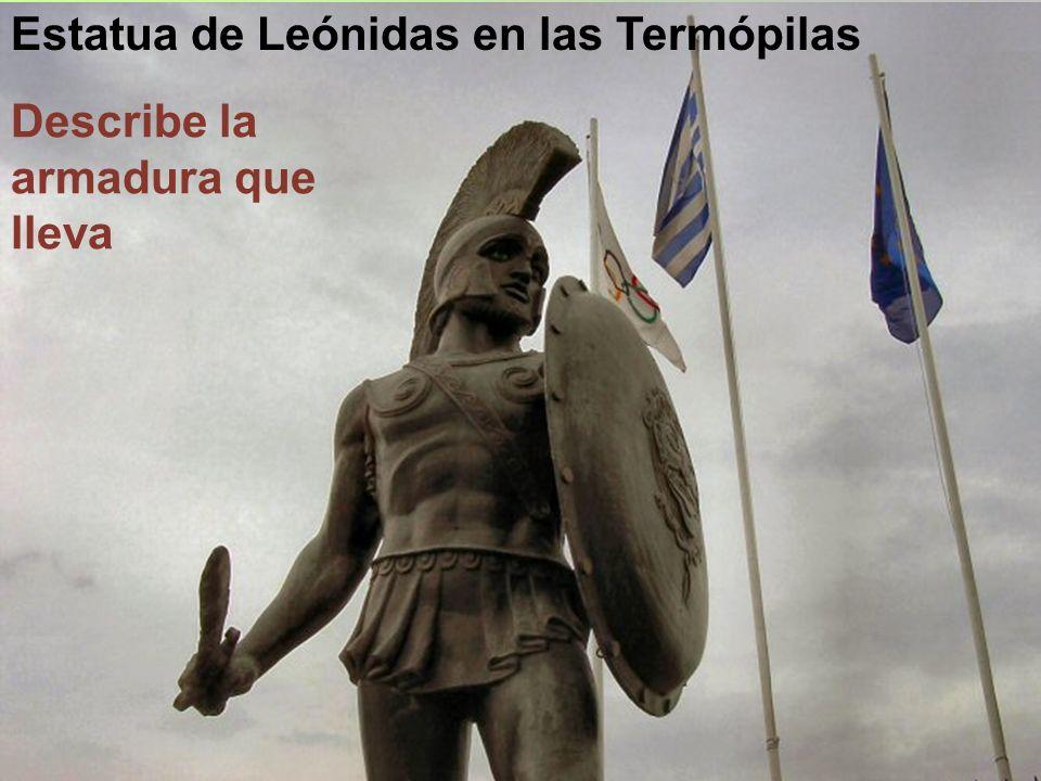 ¿Por qué en la película 300 Leónidas no lleva armadura, cuando los espartanos la llevaban?