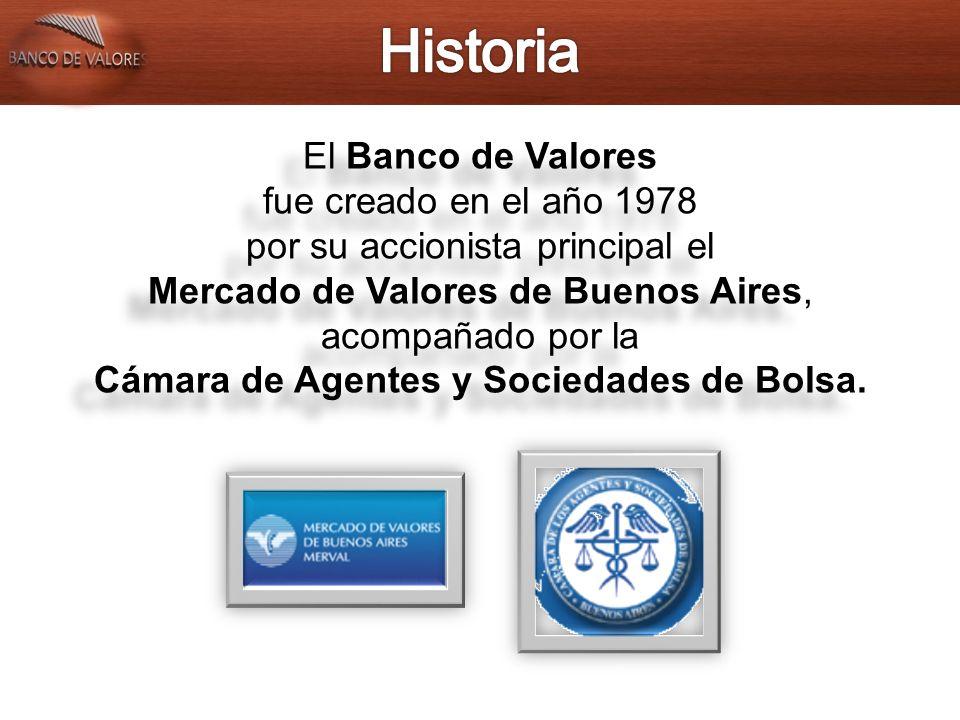Banco de Valores es el principal depositario argentino en la industria de fondos comunes de inversión.