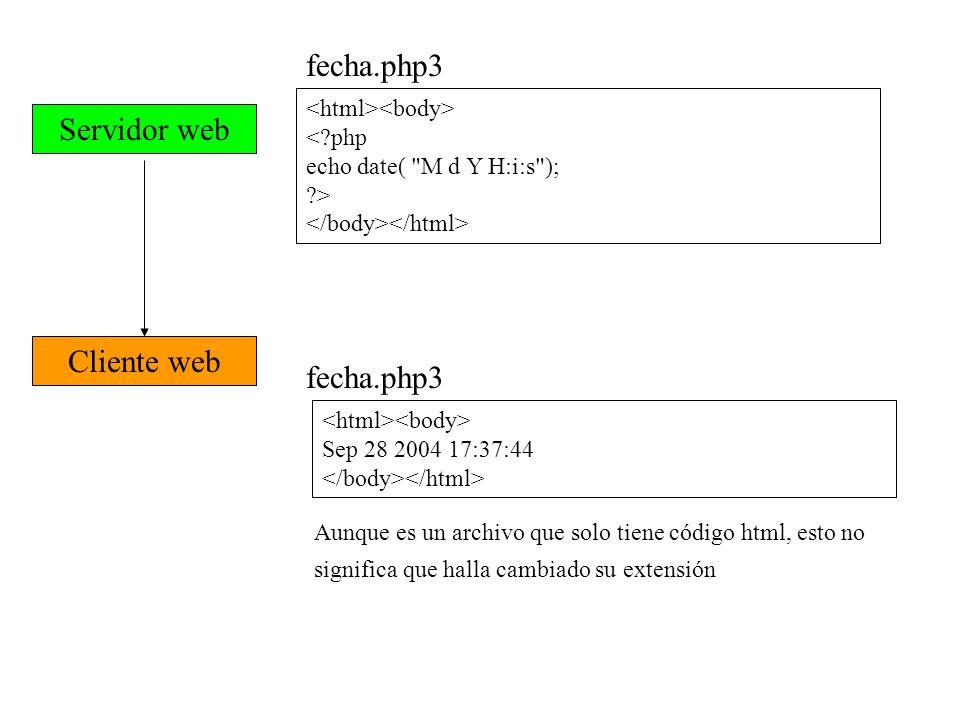 (Uniform Resource Locator) (Localizador Uniforme de recursos) http://serv_web/directorioA/directorioB/fichero.ext serv_web: puede especificarse por su nombre (de dominio) o su IP.