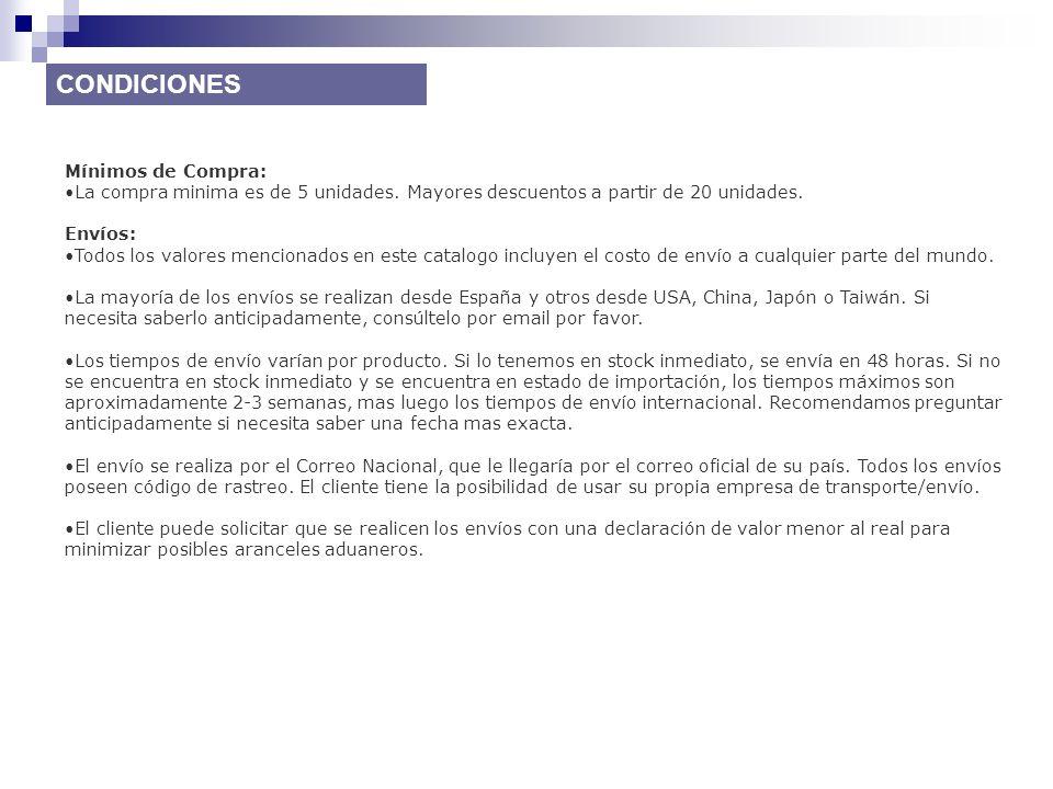Opciones de Pago: Transferencia Bancaria (España, USA, Argentina), PayPal, Western Unión y Tarjeta de Crédito.