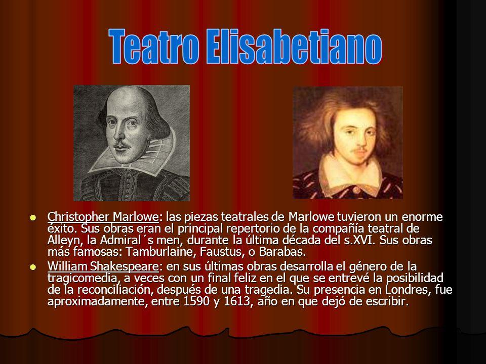 EL TEATRO ELISABETIANO Contexto Contexto Los relativamente estables reinados de Isabel I (1558-1603) y Jacobo I (1603-1625) alumbran la época dorada de la literatura inglesa, antes de los turbulentos años revolucionarios de mediados de siglo.