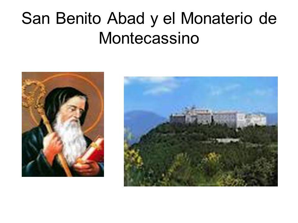 San Benito Abad y el Monaterio de Montecassino