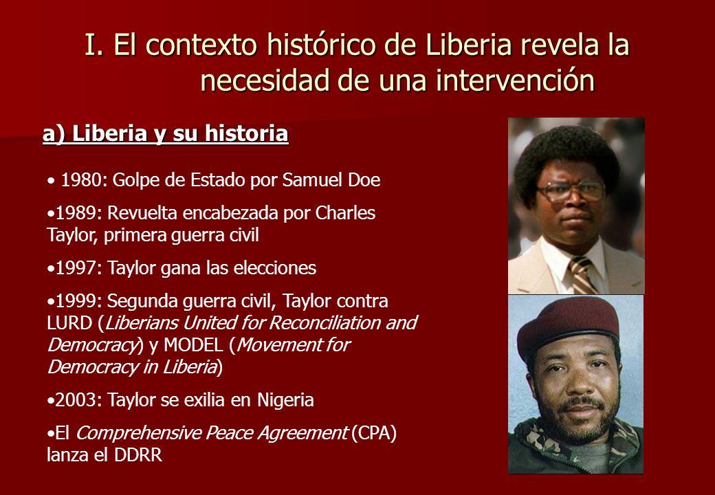 Introducción Dos guerras civiles (1989-1996 y 1999-2003) Elecciones de noviembre 2005: Ellen Johnson- Sirleaf elegida presidenta ¿ Ha logrado el Programa DDR construir un contexto pacífico
