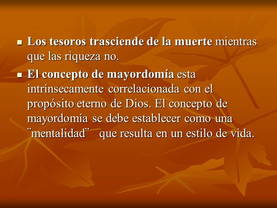 5 - Tiempo (Sal.90:10;Santiago.4:13-17 6 - Economía.