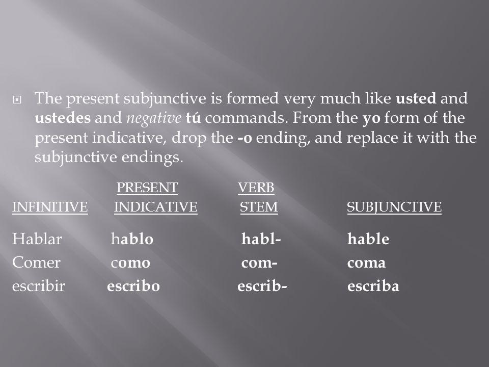 Completa las oraciones usando el modo apropiado.1.