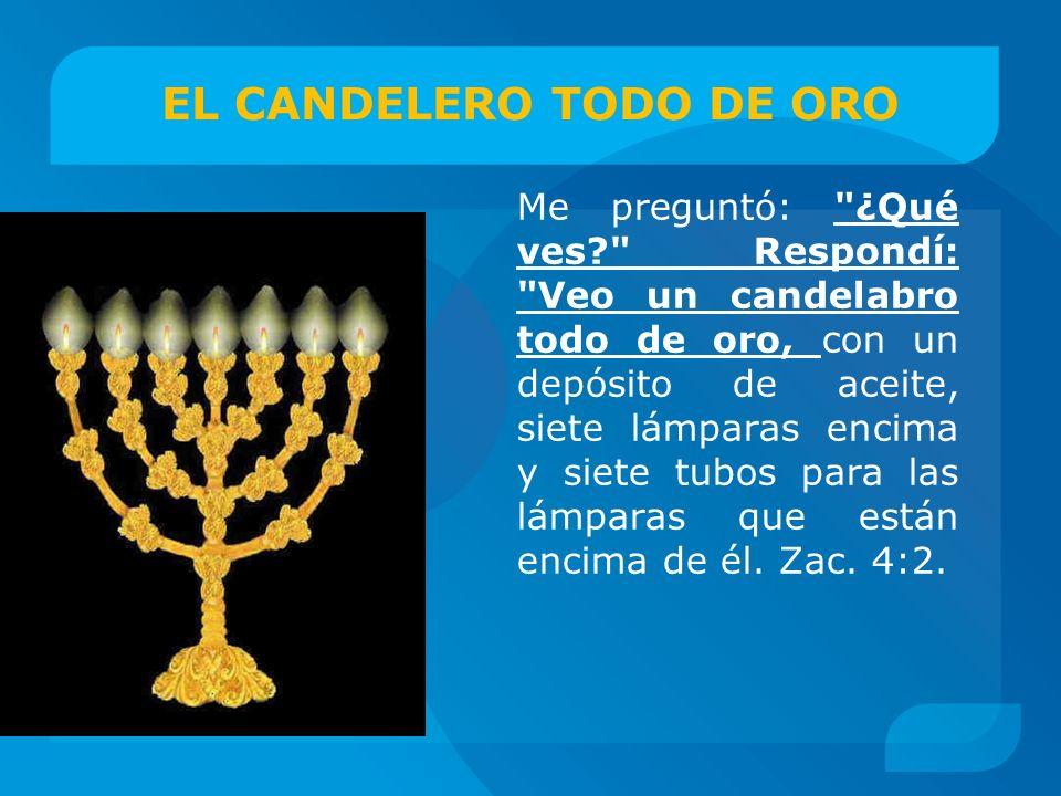 EL CANDELERO TODO DE ORO Me preguntó: