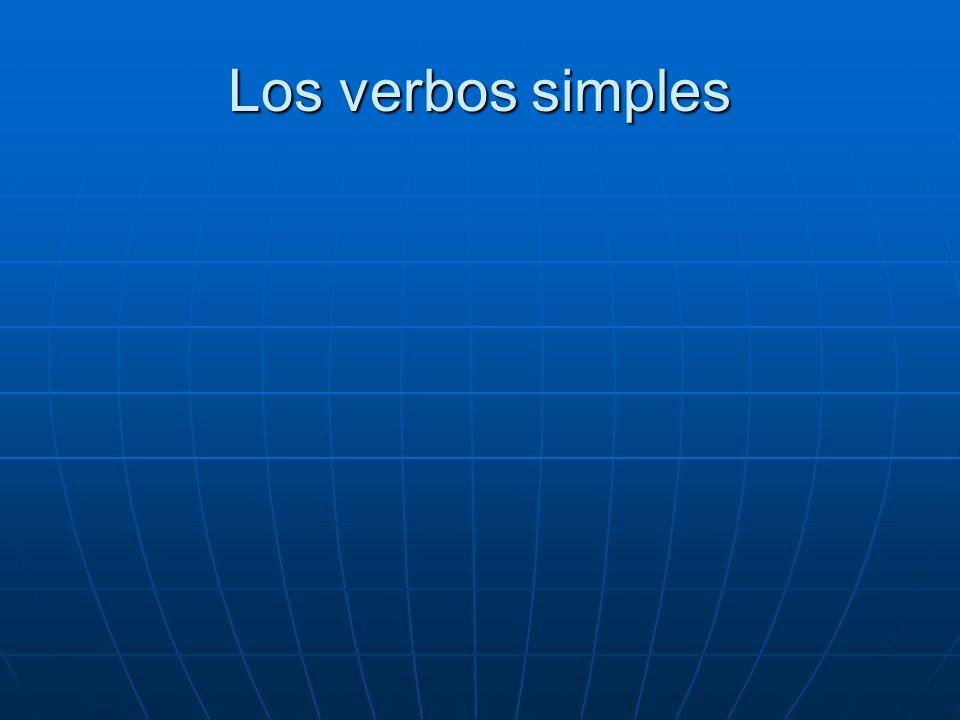 Los verbos simples