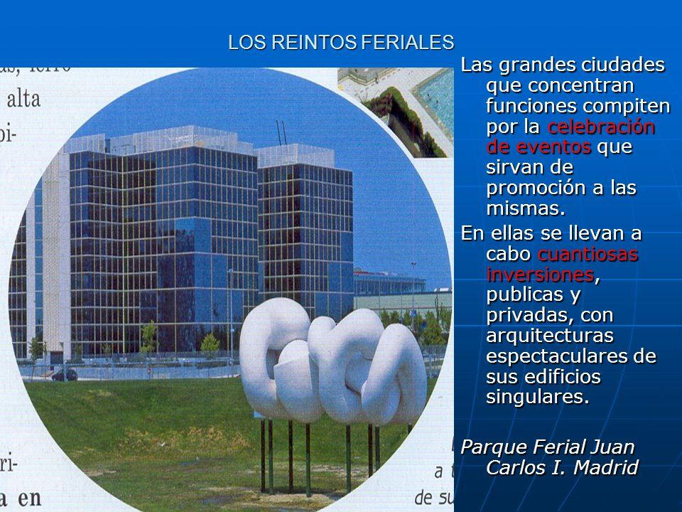 LOS REINTOS FERIALES Las grandes ciudades que concentran funciones compiten por la celebración de eventos que sirvan de promoción a las mismas. En ell