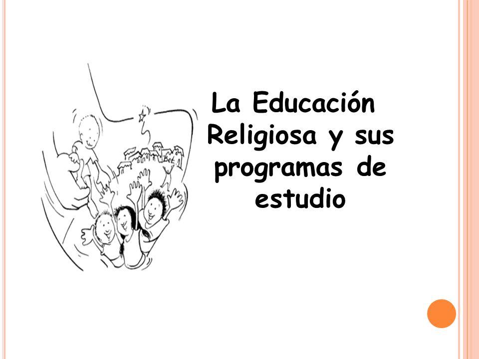 Algunas especificaciones acerca de la Unidad Didáctica en la Educación Religiosa El Programa de Educación Religiosa, se encuentra estructurado en tres áreas, las cuales se organizan en 8 objetivos generales y 8 contenidos generales, los cuales a su vez, se desglosan en 2 o 3 contenidos específicos.
