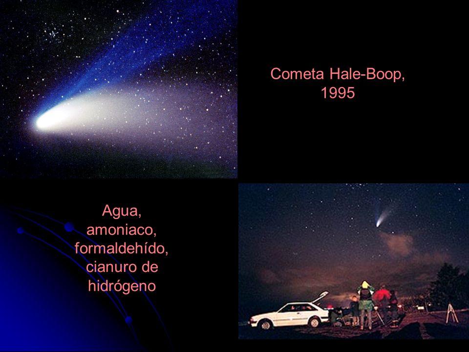 Cometa Hale-Boop, 1995 Agua, amoniaco, formaldehído, cianuro de hidrógeno