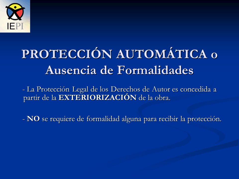 - Sin perjuicio de lo anterior, el registro de la obra en el Instituto Ecuatoriano de Propiedad Intelectual (IEPI) es IMPORTANTE ya que: - Sin perjuicio de lo anterior, el registro de la obra en el Instituto Ecuatoriano de Propiedad Intelectual (IEPI) es IMPORTANTE ya que: 1.