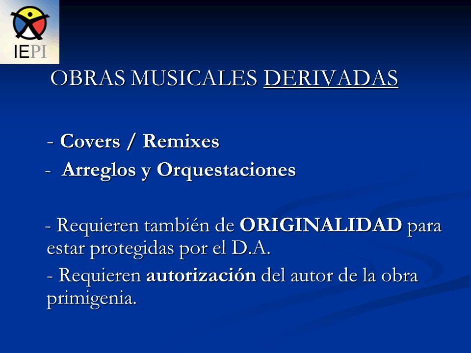 Derechos coexistentes en una grabación musical (fonograma) 1.