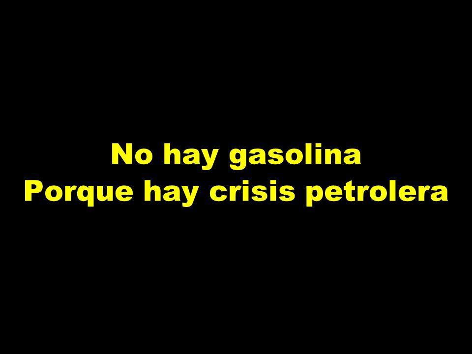 Hay crisis petrolera Porque usted no escucha
