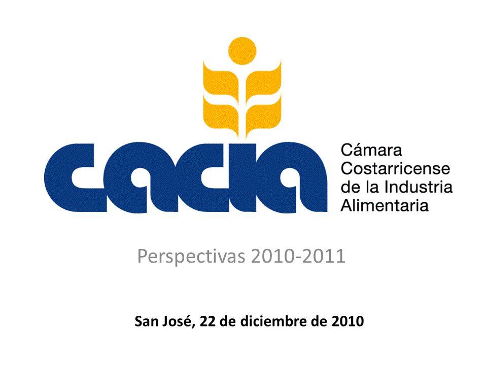 Perspectivas 2010-2011 San José, 22 de diciembre de 2010
