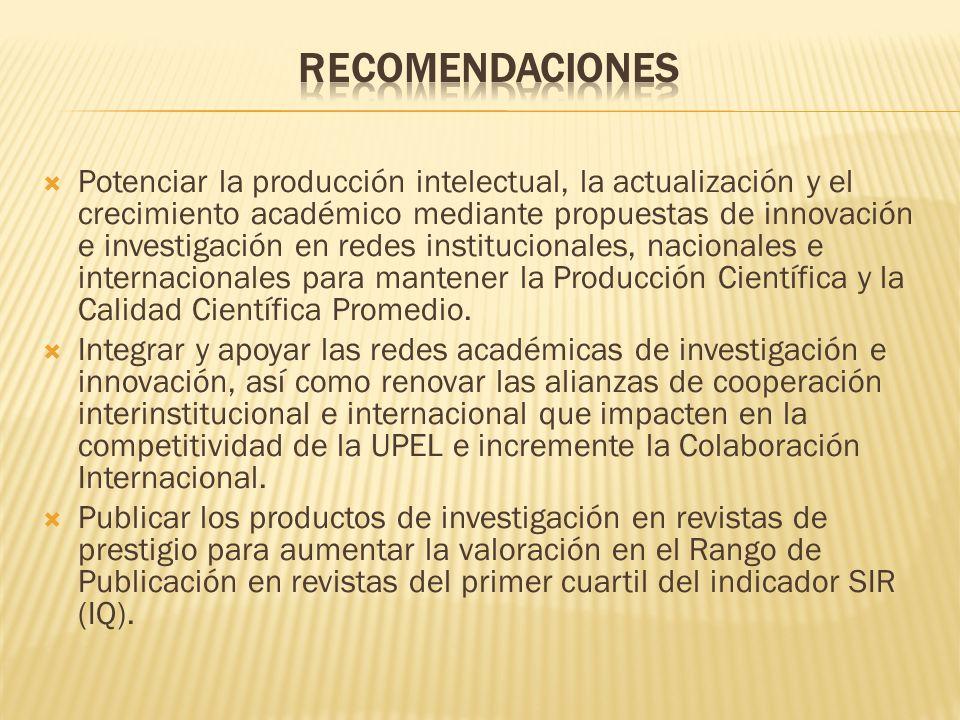 Consolidar el repositorio institucional http://repositorios.upel.edu.ve y el portal de revistas http://revistas.upel.edu.ve, para aumentar la visibilidad de la productividad de investigadores e innovadores de la UPEL.