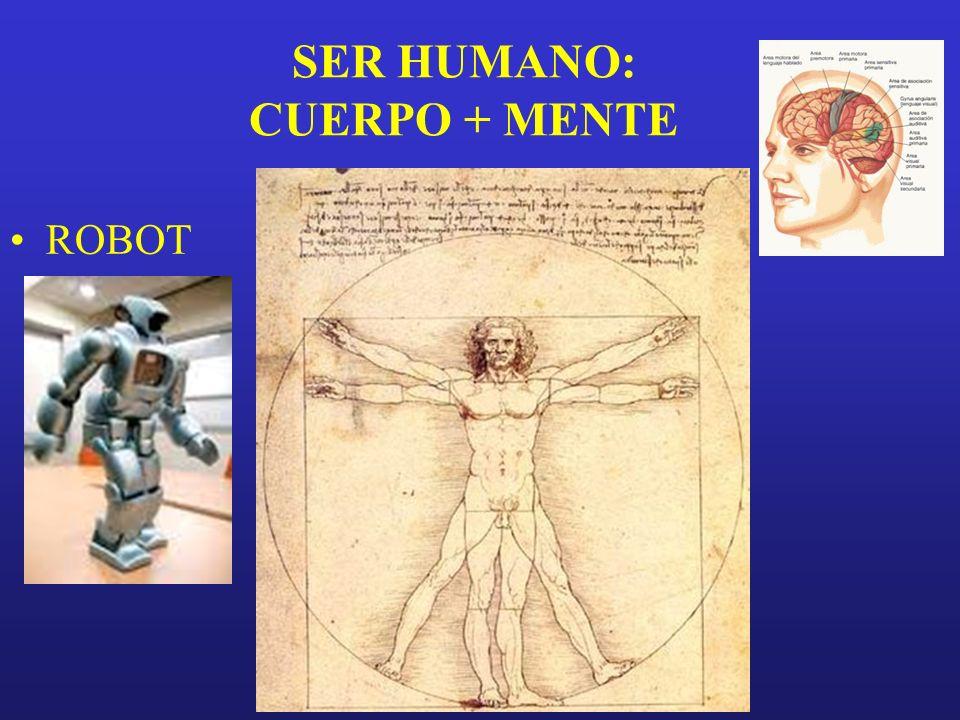 SER HUMANO: CUERPO + MENTE ROBOT