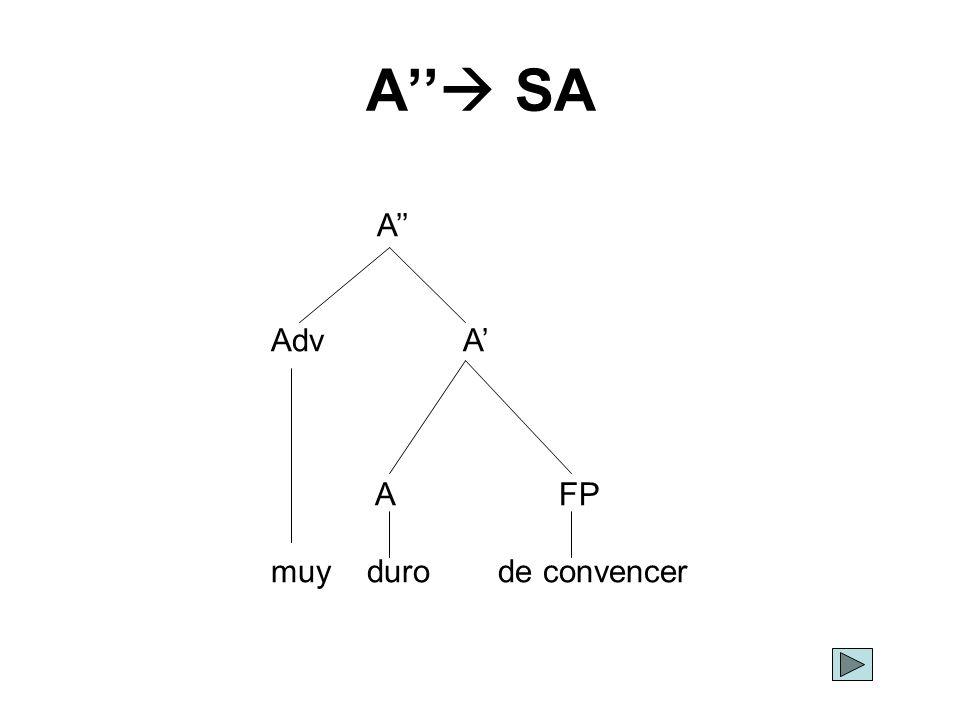 A SA A AdvA AFP muy duro de convencer