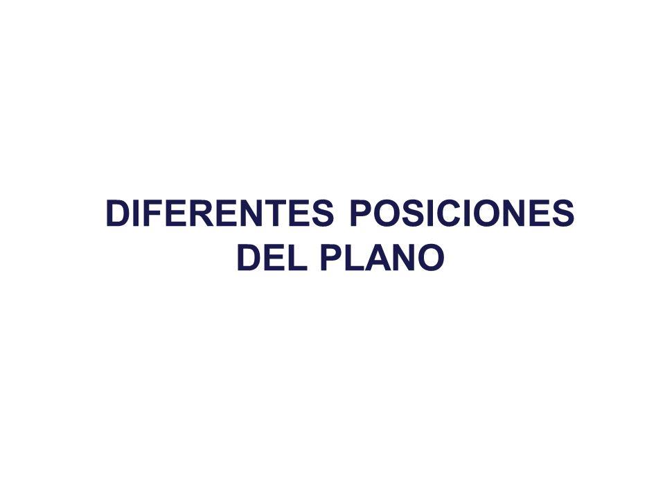 DIFERENTES POSICIONES DEL PLANO